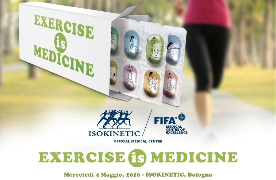 "Incontro a Bologna, 4 Maggio 2016: ""Exercise is Medicine"""