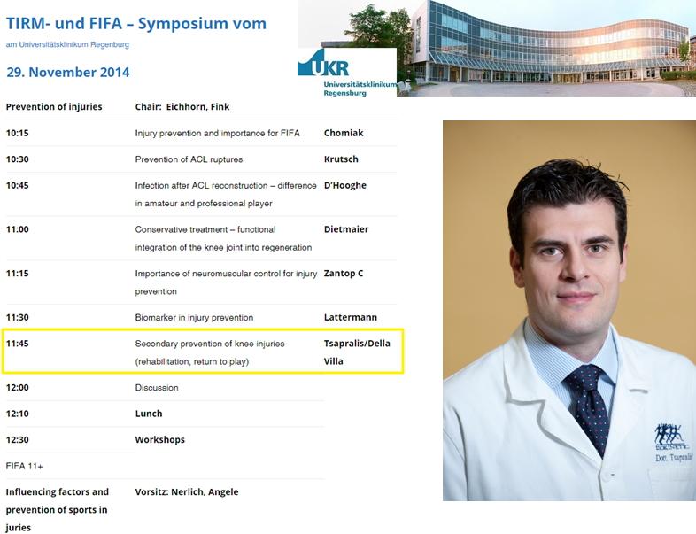 """Il Dott. Tsapralis di Bologna a Regenburg per la """"FIFA community"""""""