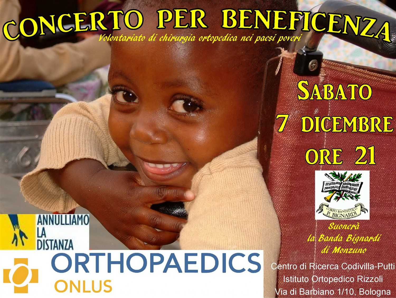 Orthopaedics Onlus: 7 dicembre Concerto per Beneficenza