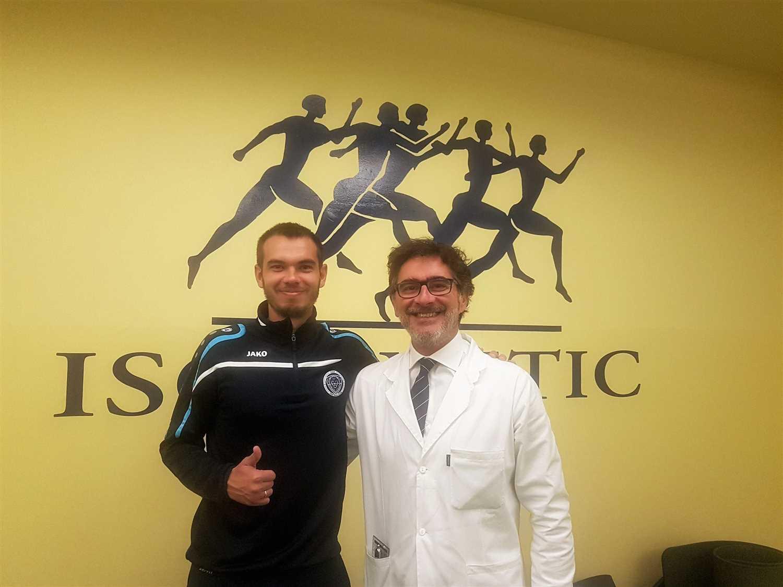 Dalla nazionale di calcio lettone all'Isokinetic di Torino per curare il legamento crociato anteriore