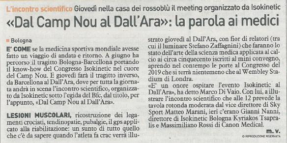 Isokinetic Bologna e Bologna FC al Dall'Ara per il convegno sulla medicina del calcio