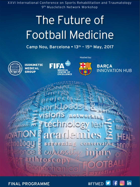 Il programma finale del XXVI Congresso Internazionale di Riabilitazione Sportiva e Traumatologia, Camp Nou 13-15 Maggio