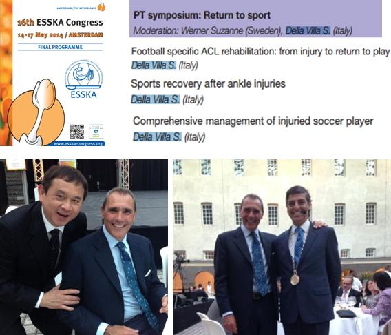 Il Dott. Stefano Della Villa al 16° Congresso ESSKA ad Amsterdam