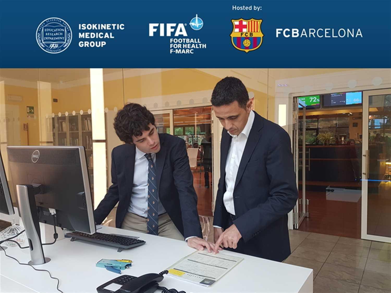 Il Dr. Medina del FC Barcelona in Isokinetic Bologna