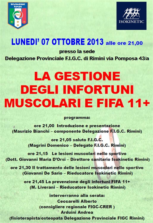 """FIGC e Isokinetic Rimini: """"Gestione degli Infortuni Muscolari e FIFA 11+"""""""