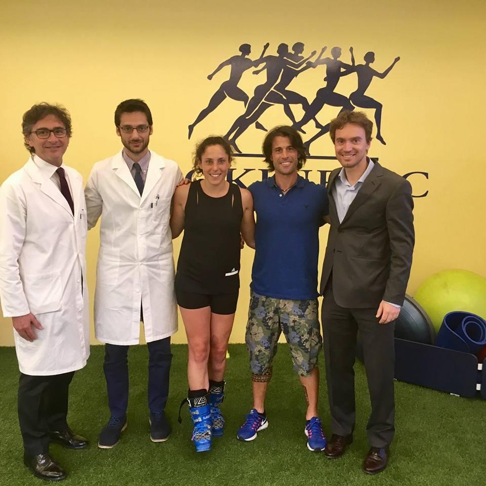Federica Brignone al lavoro per la stagione olimpica in Green Room Isokinetic