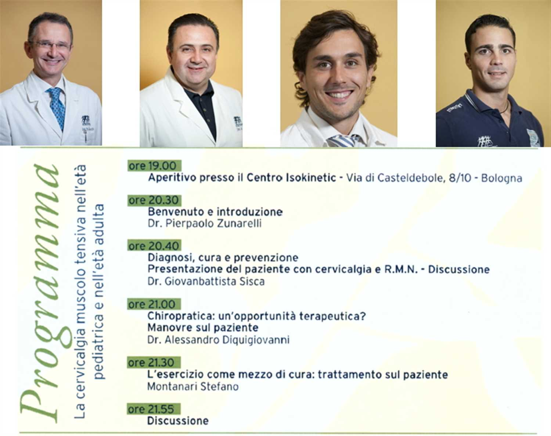 """Isokinetic Bologna incontra Medici di base e Pediatri su """"La cervicalgia muscolo tensiva nell'età pediatrica e nell'età adulta"""""""
