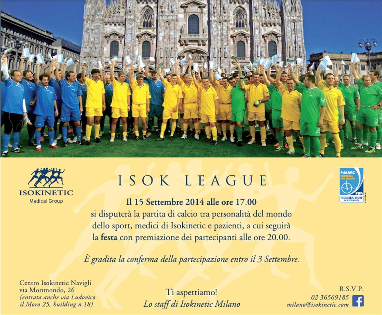 Isok League: torna l'evento milanese calcistico!
