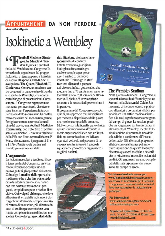 "Scienza&Sport: ""Isokinetic a Wembley"""