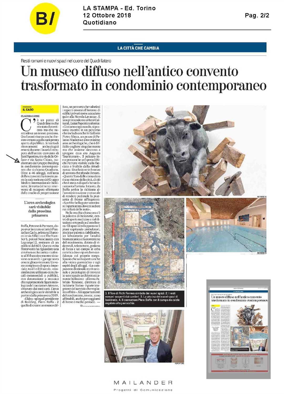 Rassegna stampa inaugurazione Isokinetic in Via delle Orfane, Torino