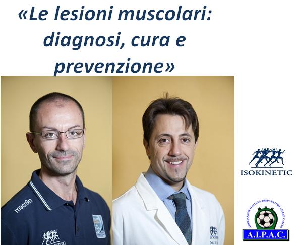 """Incontro con AIPAC: """"Le lesioni muscolari: diagnosi, cura e prevenzione"""""""