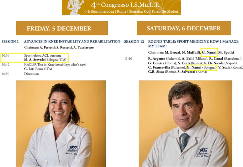 Il Dott. Nanni e la Dott.ssa Servadei al prossimo congresso ISMULT
