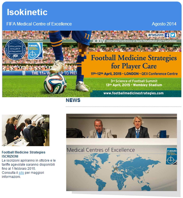 Newsletter Congresso Football Medicine Strategies – Agosto