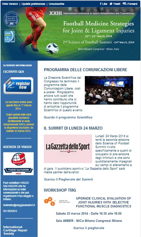 "Newsletter ""Football Medicine Strategies"""
