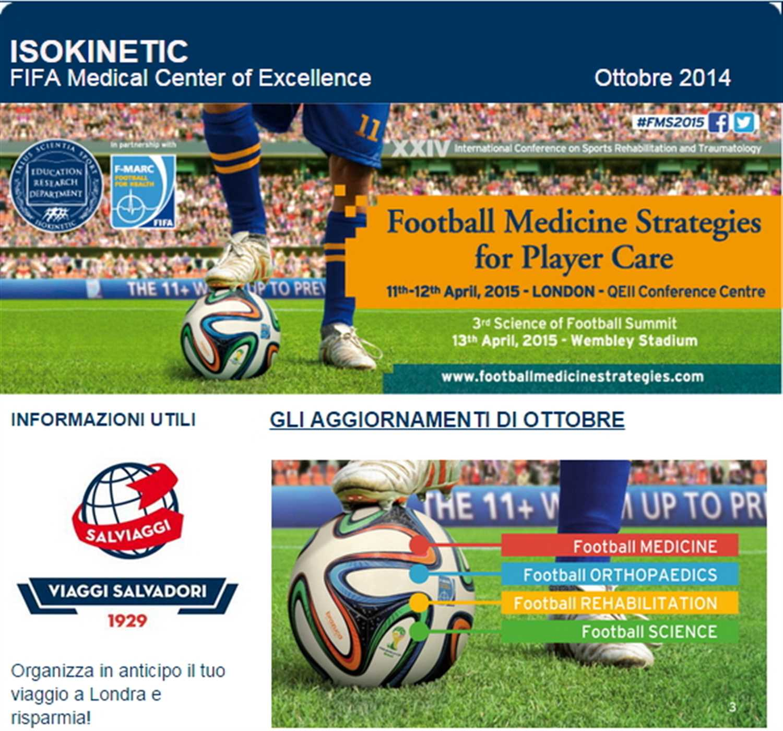 Newsletter Congresso Football Medicine Strategies – Ottobre