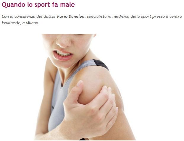 """Esseredonnaonline.it: """"Quando lo sport fa male"""""""