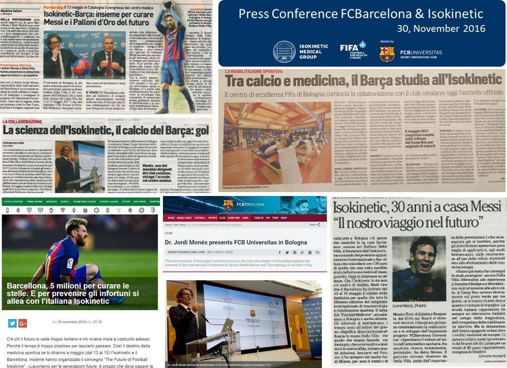Rassegna stampa conferenza FC Barcelona e Isokinetic