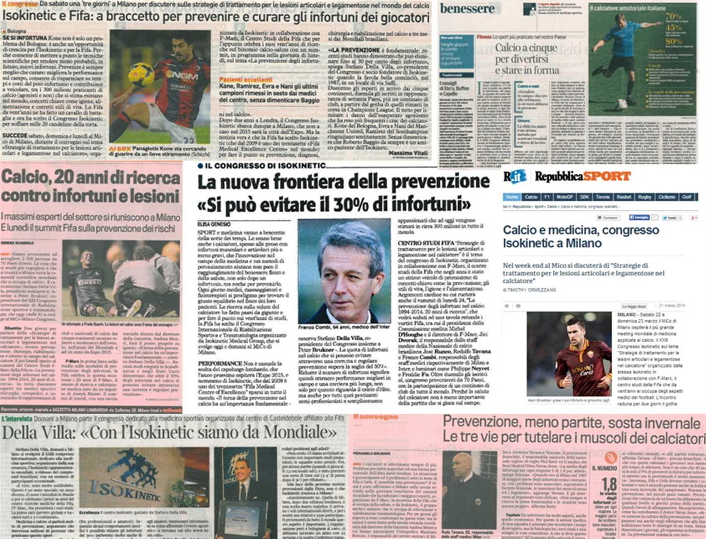 Congresso Football Medicine Strategies: rassegna stampa e newsletter