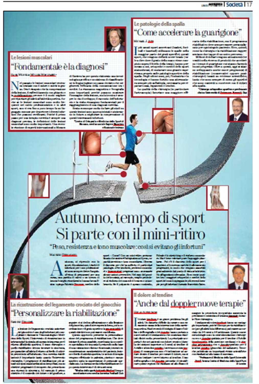 """La Stampa: """"Autunno, tempo di sport. Come evitare gli infortuni"""""""