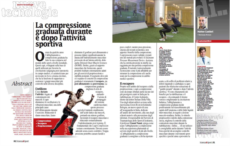 """Scienza&Sport – Nuove tecnologie: """"La compressione graduata durante e dopo l'attività sportiva"""""""