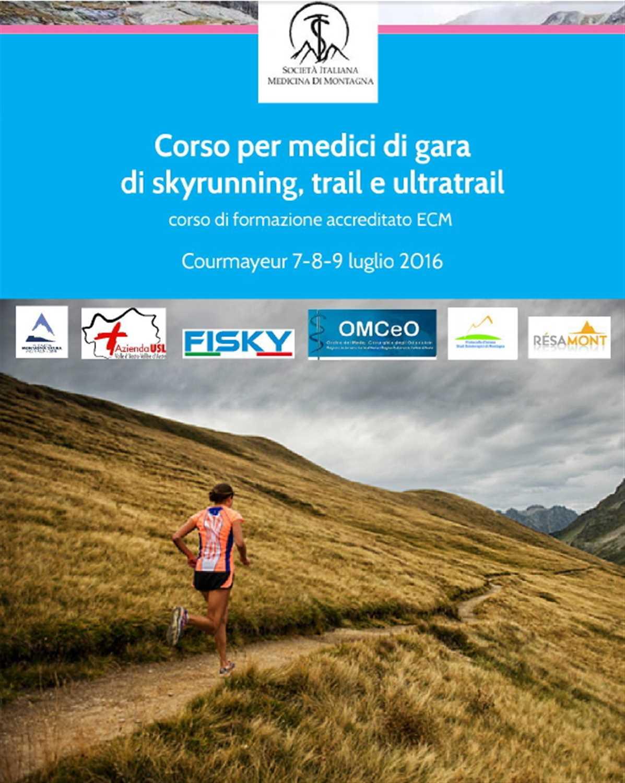 """""""Corso per medici di gara di skyrunning, trail running e ultratrail"""""""