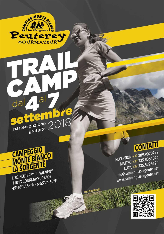 Trail Camp 4-7 Settembre a Courmayeur