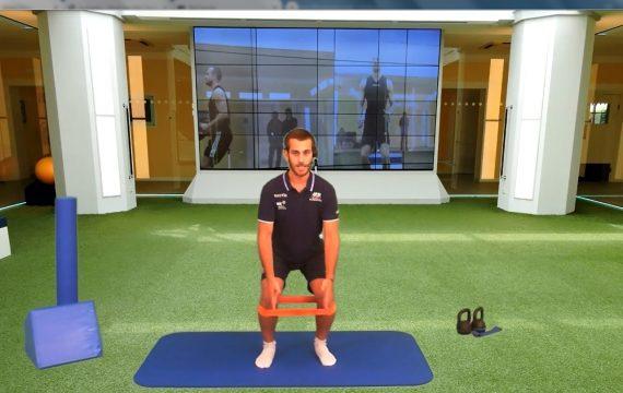 Isokinetic-riabilitazione- Virtual plus-on line -Palestra Ermanno miniband ginocchio