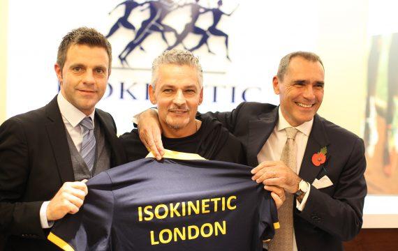 Isokinetic- inaugurazione London Isokinetic Harley st. - Roby Baggio e Nicola Rizzoli