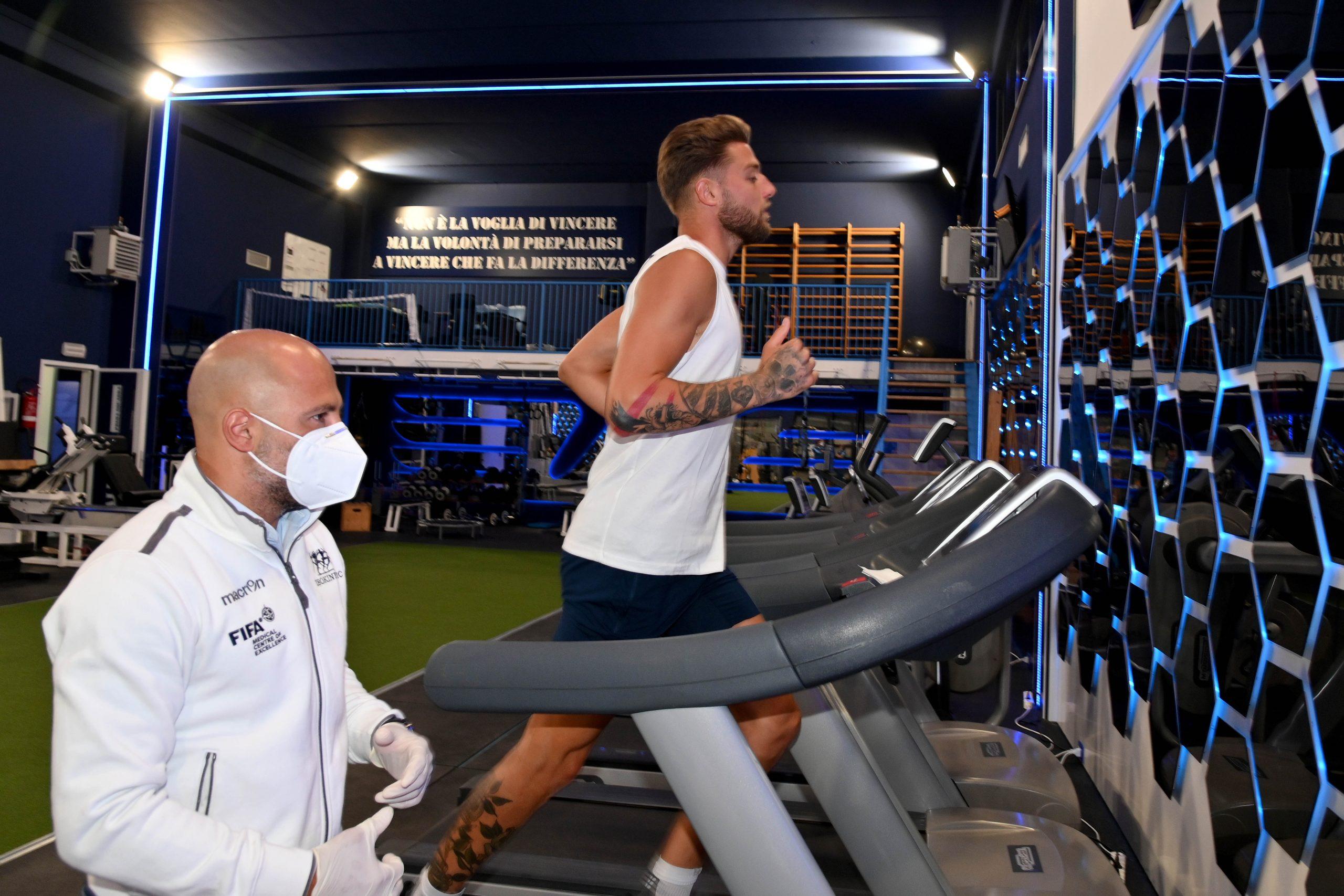 Test atletici per i biancocelesi della S.S.Lazio
